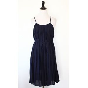 Ann Taylor LOFT Navy Pleated Dress Petite XS NWT